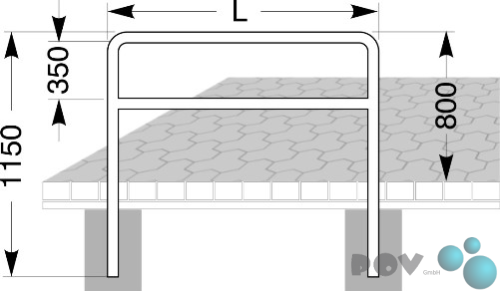 fahrrad anlehnb gel 9220 l nge 120 cm zum einbetonieren. Black Bedroom Furniture Sets. Home Design Ideas