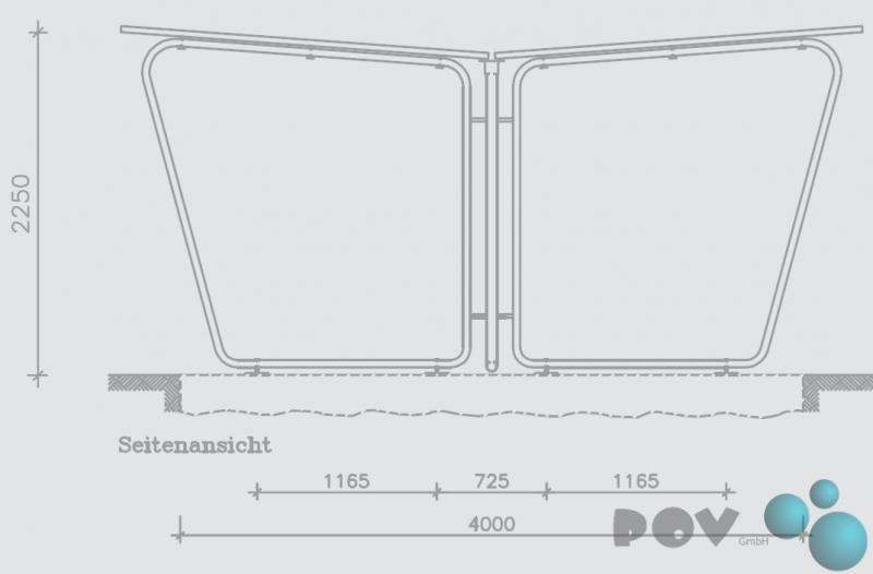 berdachung modell siegen s22 doppelseitig. Black Bedroom Furniture Sets. Home Design Ideas