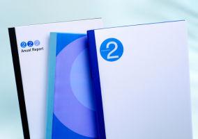 Thermobindemappe Business Line, Klarsichtfolie/Karton mit Lederstruktur