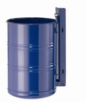 Abfallbehälter zur Wand- und Pfostenbefestigung