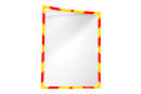 Infotaschen, magnetisch für Warnhinweise, rot/gelb