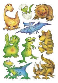 3431 Sticker DECOR Dinos, 10 St.