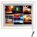 LED Leuchtrahmen Acrylic Frame, DIN A4 Silber