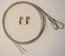 Montagematerial für Wechselrahmen, Stahlseil und...