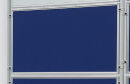 Textiltafel ECO, beidseitig verwendbar, 120 x 90 cm, blau