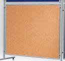 Korktafel ECO, beidseitig verwendbar, 120 x 120 cm, braun