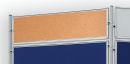 Korktafel ECO, beidseitig verwendbar, 120 x 30 cm, braun