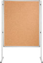 Korktafel PRO, beidseitig verwendbar, 150 x 120 cm, braun