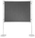 Magnetische Schreibtafel / Filztafel PRO, 120 x 90 cm