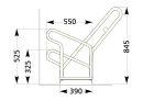 Fahrrad-Anlehnparker 2506 XBF, 6 Einstellplätze,...