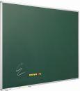 Kreidetafel, grün emaillierter Stahl, 120 x 300 cm