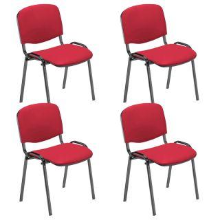NOWY STYL Iso Besucherstühle rot Kunstleder