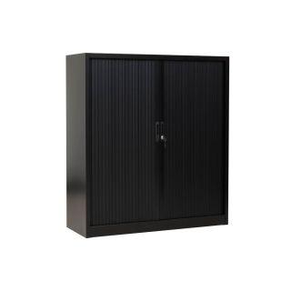 Gürkan Rollladenschrank schwarz 2 Fachböden