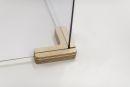 Holz-Fuß  für  Plexiglas-Trennscheibe, 2-Wege