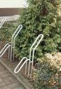 Fahrrad-Rohrparker als Einzelparker, mit Bodenanker zum...