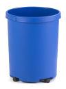 Runder Papierkorb 50 Liter, Blau