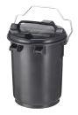 Abfallbehälter 35 Liter aus Kunststoff, Dunkel Grau