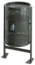 Abfallbehälter 60 Liter auf Gestell, Graphit