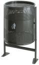 Abfallbehälter 80 Liter auf Ständer, Graphit