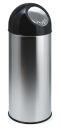 Abfallbehälter mit Druckdeckel 55 Liter, Edelstahl,...