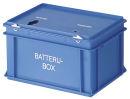 Batteriebehälter, Blau