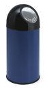 Abfallbehälter mit Druckdeckel 40 Liter, Blau, Schwarz
