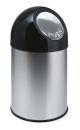 Abfallbehälter mit Druckdeckel 30 Liter, Edelstahl,...