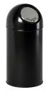 Abfallbehälter mit Druckdeckel 40 Liter, Schwarz