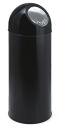 Abfallbehälter mit Druckdeckel 55 Liter, Schwarz