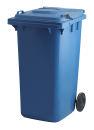 Container mit Papierschlitz und Schloss, Blau, 240 Liter