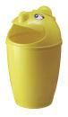Abfallsammler mit Gesicht, Gelb