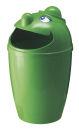 Abfallsammler mit Gesicht, Grün