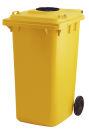 Container mit Glasrosette, Gelb