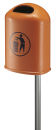 Abfallbehälter für draußen 45 Liter, Orange