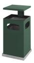 Ascher-Papierkorb mit abnehmbarem Dach 80 Liter, Grün