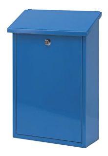 h 37 cm Wandbriefkasten Blau