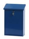 Wandbriefkasten, h 40 cm, Blau