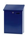 Wandbriefkasten, h 44,5 cm, Blau