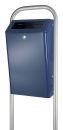 Abfallbehälter für draußen 50 Liter, Blau