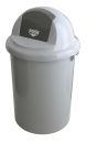 Abfallbehälter aus Kunststoff mit Klappdeckel, 90...