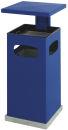Ascher-Papierkorb mit abnehmbarem Dach 70 Liter, Blau