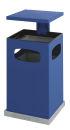 Ascher-Papierkorb mit abnehmbarem Dach 80 Liter, Blau