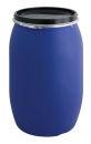 Tonne aus Kunststoff 120 Liter, Blau, Schwarz