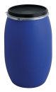 Tonne aus Kunststoff 220 Liter, Blau, Schwarz