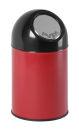 Abfallbehälter mit Druckdeckel 30 Liter, Rot, Schwarz