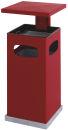 Ascher-Papierkorb mit abnehmbarem Dach 70 Liter, Rot