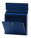 Wandbriefkasten, h 37 cm, Blau