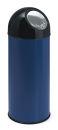 Abfallbehälter mit Druckdeckel 55 Liter, Blau, Schwarz