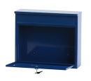 Wandbriefkasten, h 31,5 cm, Blau