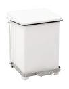 Industrieller Tritt-Mülleimer 27 Liter, Weiß